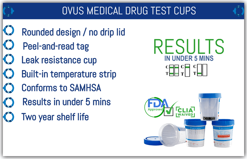 Ovus Medical Drug Test Cups