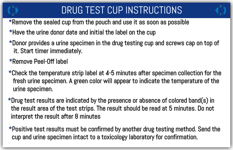 Drug Test Cup Instruction
