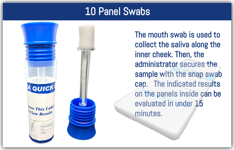 10 Panel Oral Swabs