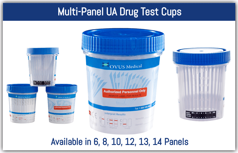 Multi-Panel UA Drug Test Cups, 14 Panel drug test