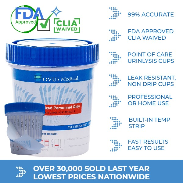 OVUS MEDICAL URINE DRUG TESTING CUPS