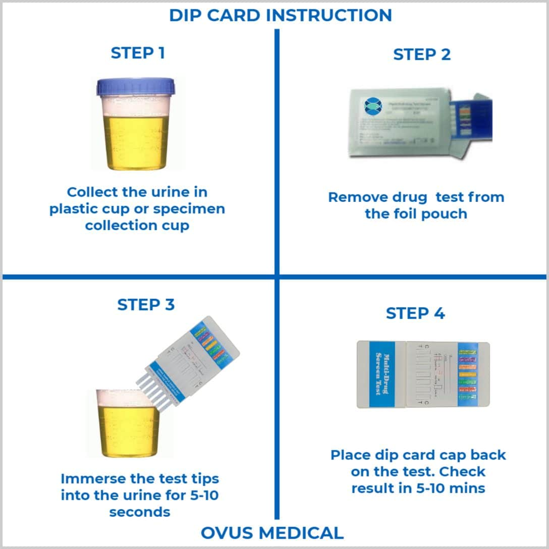 ovus medical urine dip card instruction