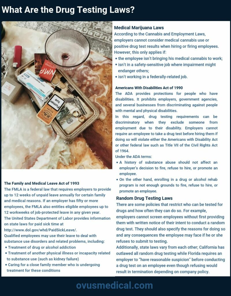 ovus-medical-what-are-the drug testing laws