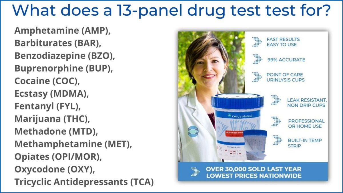 what does a 13 panel drug test test for