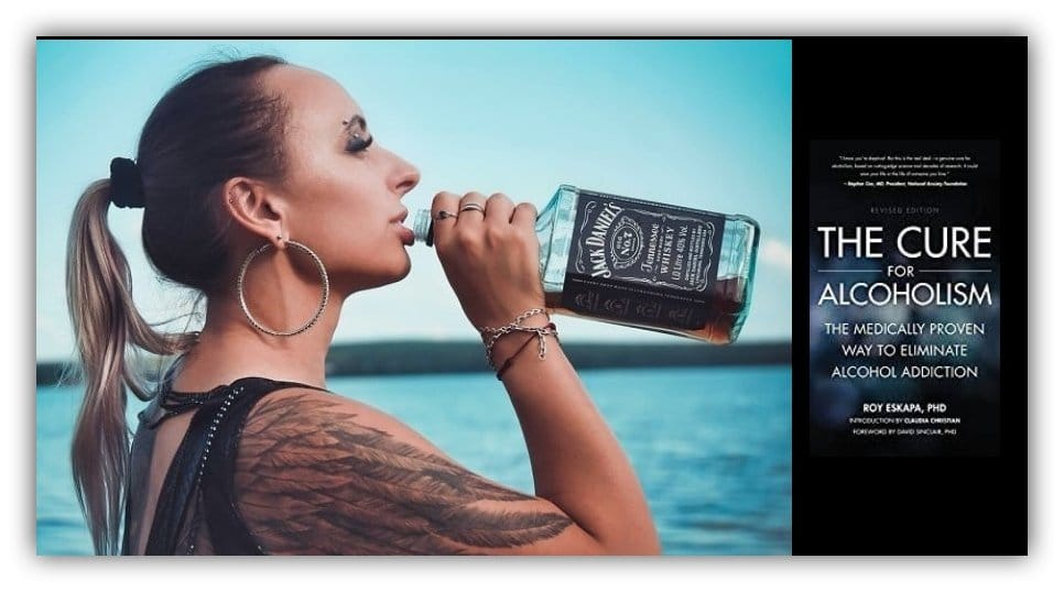 girl drinking from alcohol bottle Sinclair Method