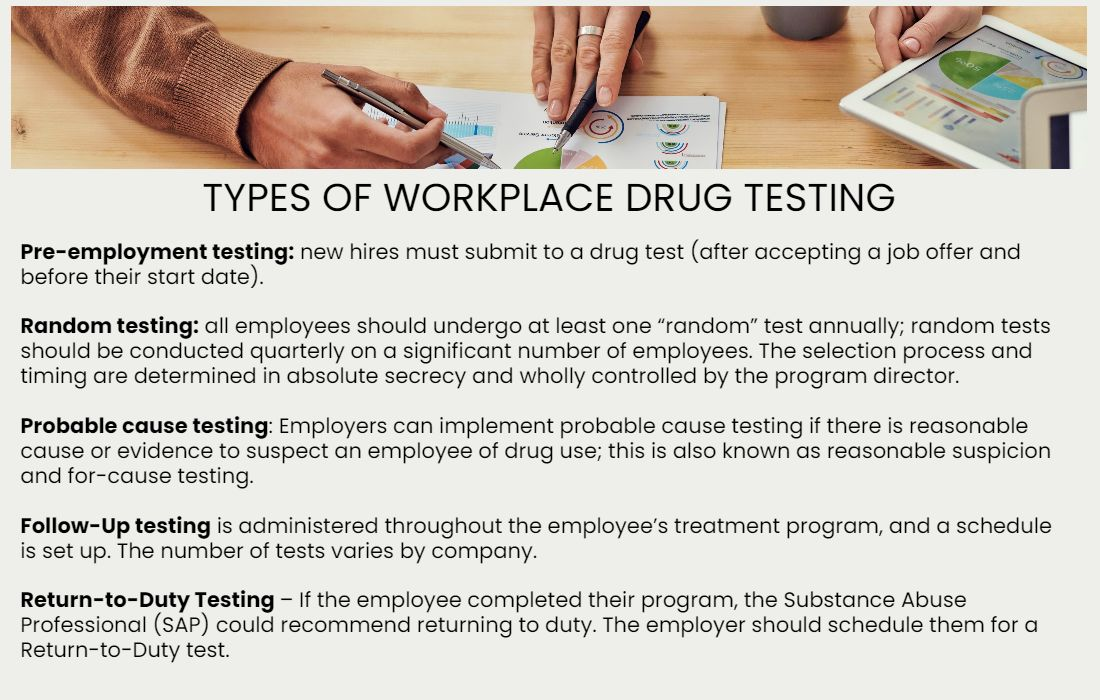 OVUS MEDICAL TYPES OF WORKPLACE DRUG TESTING
