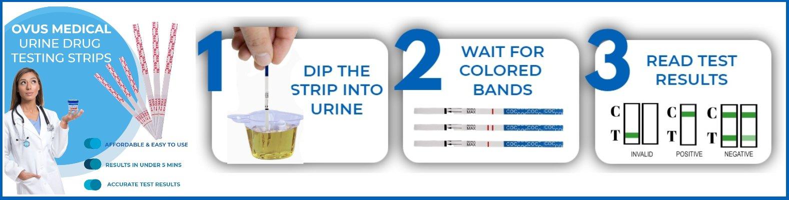 ovus medical drug test strips instruction